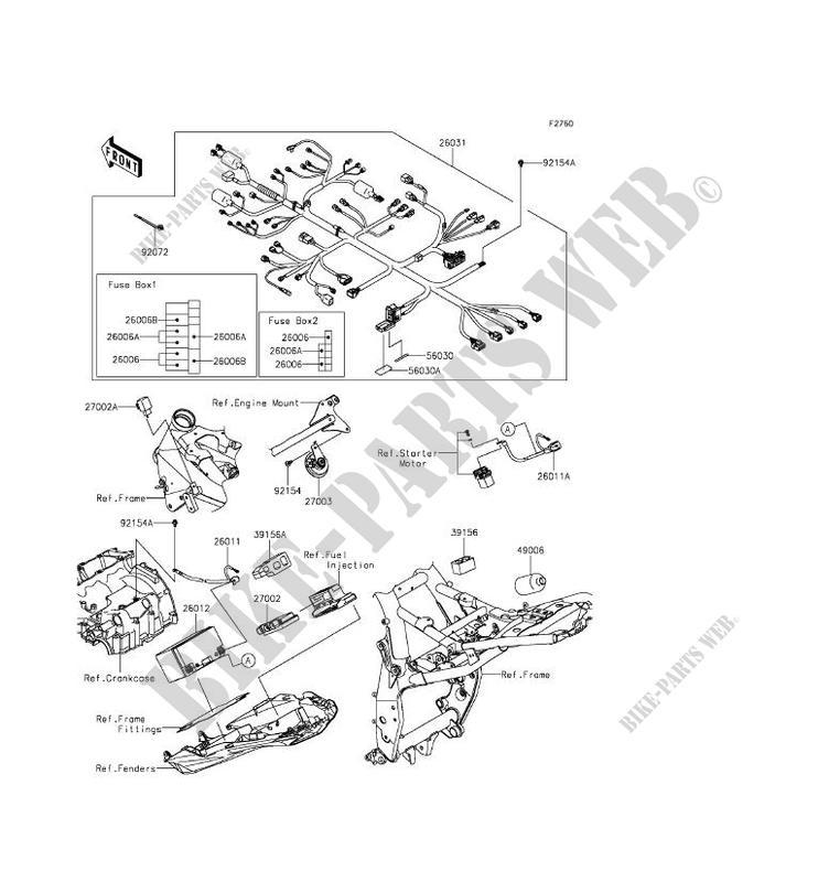 Chasis Equipo Electrico Zr800bff Z800 Abs 2015 800 Motos Kawasaki